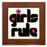 Girls Rule Framed Tile