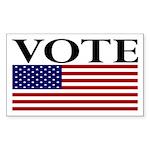 Vote (with Flag) bumper sticker