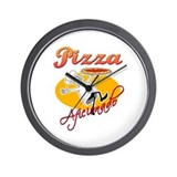 Pizza Aficionado Wall Clock