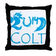 Colt 2014 Year Cute Baby Horse Throw Pillow