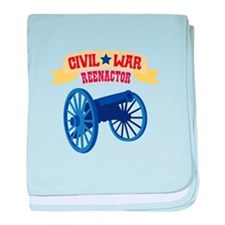 CIVIL * WAR REENACTOR baby blanket