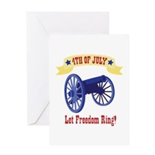 *4th Of July* Let Freedom Ring! Greeting Cards