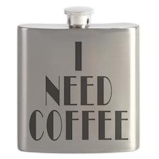 I Need Coffee Flask