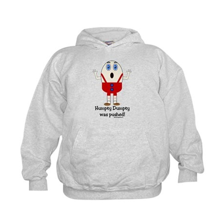 Humpty Dumpty was pushed! Kids Hoodie