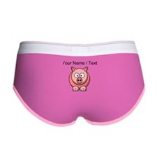 Custom Pink Pig Cartoon Women's Boy Brief