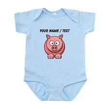 Custom Pink Pig Cartoon Body Suit