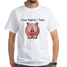 Custom Pink Pig Cartoon T-Shirt