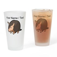 Custom Cartoon Armadillo Drinking Glass