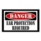Ear Protection Required  Aufkleber