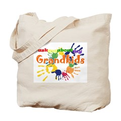 ask me about my grandkids Tote Bag