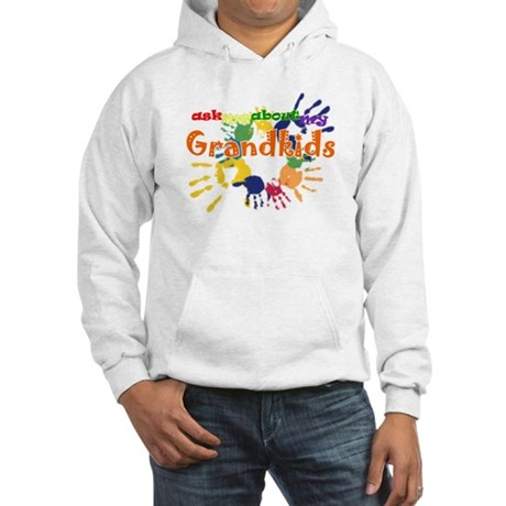 ask me about my grandkids Hooded Sweatshirt
