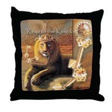 """Keys to the Kingdom"" Fine Art Lion Throw Pillow"