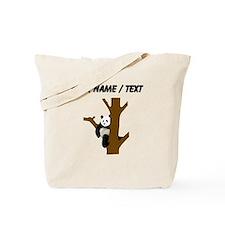 Custom Giant Panda In Tree Tote Bag