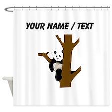 Custom Giant Panda In Tree Shower Curtain