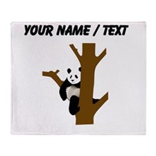 Custom Giant Panda In Tree Throw Blanket