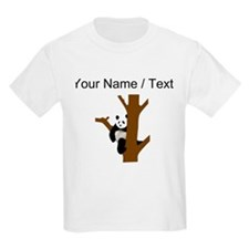Custom Giant Panda In Tree T-Shirt