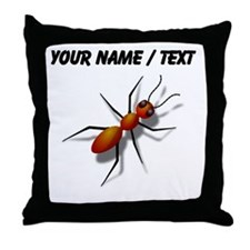 Custom Fire Ant Throw Pillow