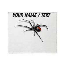 Custom Red Back Spider Throw Blanket
