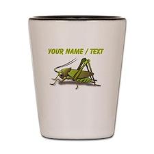 Custom Green Cricket Shot Glass