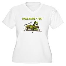 Custom Green Cricket Plus Size T-Shirt