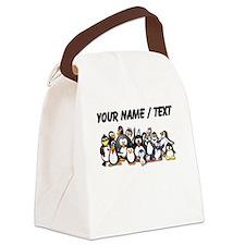 Custom Penguins Canvas Lunch Bag
