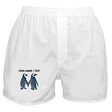 Custom Penguins Holding Hands Boxer Shorts
