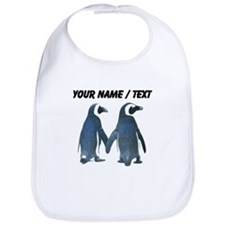 Custom Penguins Holding Hands Bib
