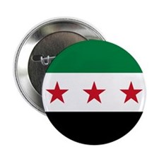 Syrian National Coalition Flag 2.25&Amp;Quot; Butt