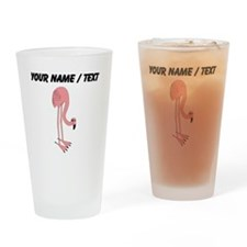 Custom Pink Flamingo Drinking Glass