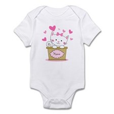Personalized Kitty Love Infant Bodysuit