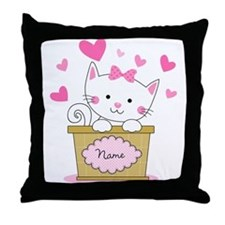 Personalized Kitty Love Throw Pillow