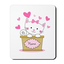 Personalized Kitty Love Mousepad