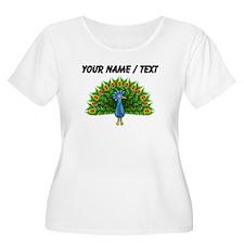Custom Peacock Plus Size T-Shirt