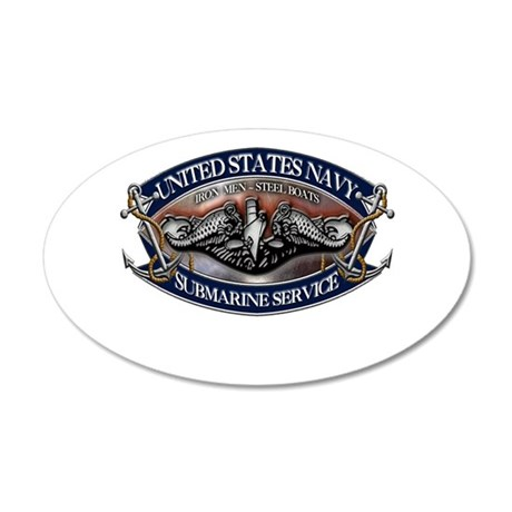 USN Sub Dolphins Iron Men Wall Decal