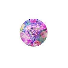 Girly Kitten Cat Romantic Floral Pink  Mini Button