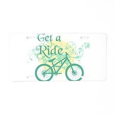 Get a ride Biking Aluminum License Plate
