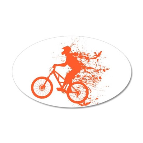 Biker ink splash 35x21 Oval Wall Decal