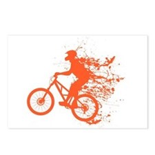 Biker ink splash Postcards (Package of 8)