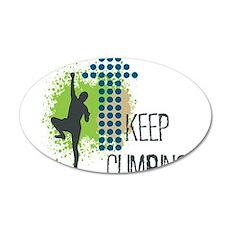 Keep climbing 35x21 Oval Wall Decal