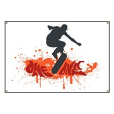 One love skateboarding Banner