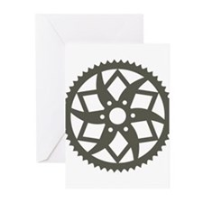 Bike chainring Greeting Cards (Pk of 10)