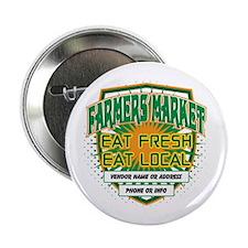 "Personalized Farmers Market 2.25"" Button"