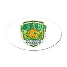 Personalized Farmers Market Oval Car Magnet