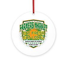 Personalized Farmers Market Ornament (Round)