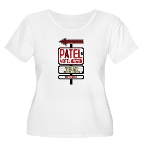 Patel Motel Women's Plus Size Scoop Neck T-Shirt