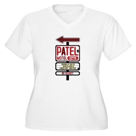 Patel Motel Women's Plus Size V-Neck T-Shirt