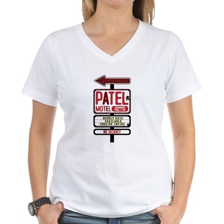 Patel Motel Women's V-Neck T-Shirt