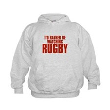 I'd Rather Be Watching Rugby Kid's Hoodie