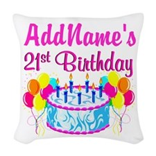 FABULOUS 21ST Woven Throw Pillow