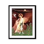 Seated Angel & Boxer Framed Panel Print